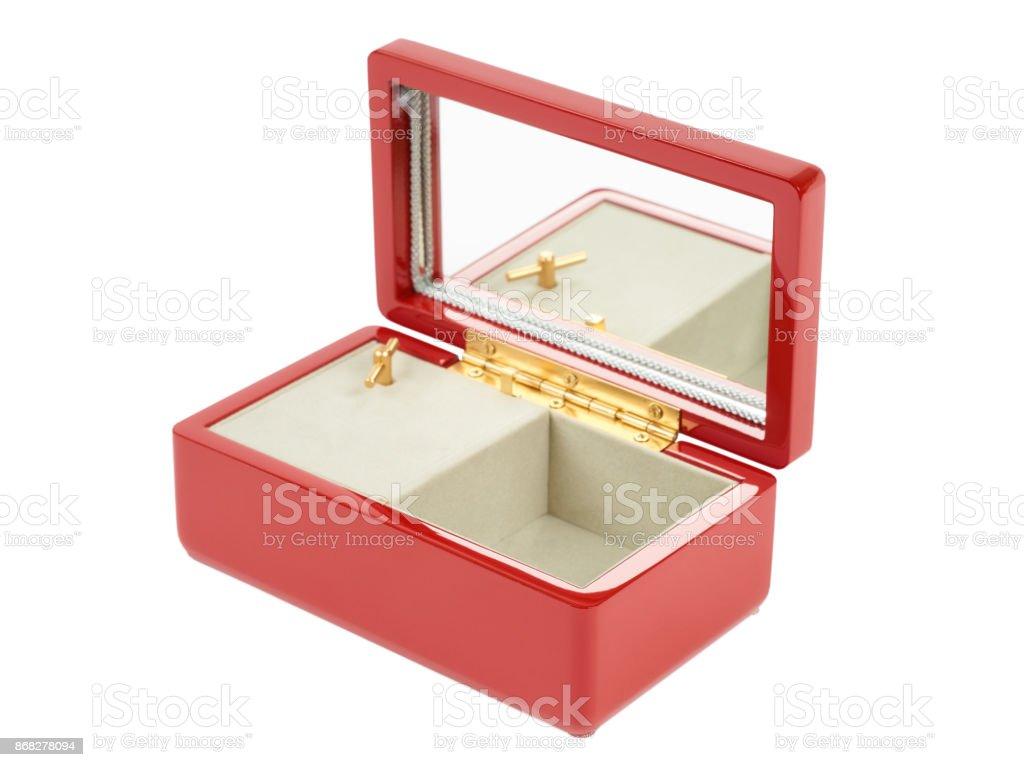 Red music box stock photo