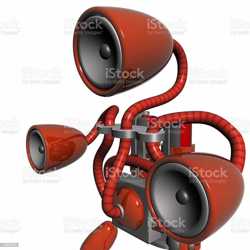Musica robot rosso foto stock royalty-free