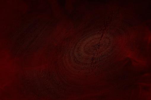 赤い神秘的なタバコの蒸気は自然の丸いパターンで木製の質感をカバー - かすみのストックフォトや画像を多数ご用意