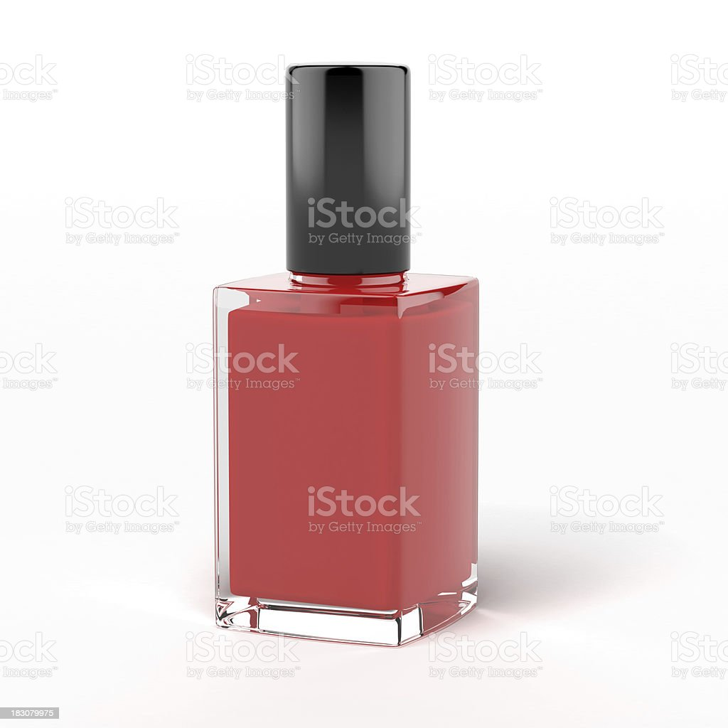 red nail polish bottle royalty-free stock photo