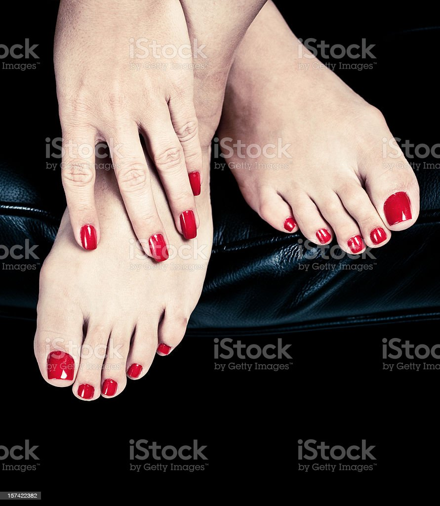 red nails royalty-free stock photo