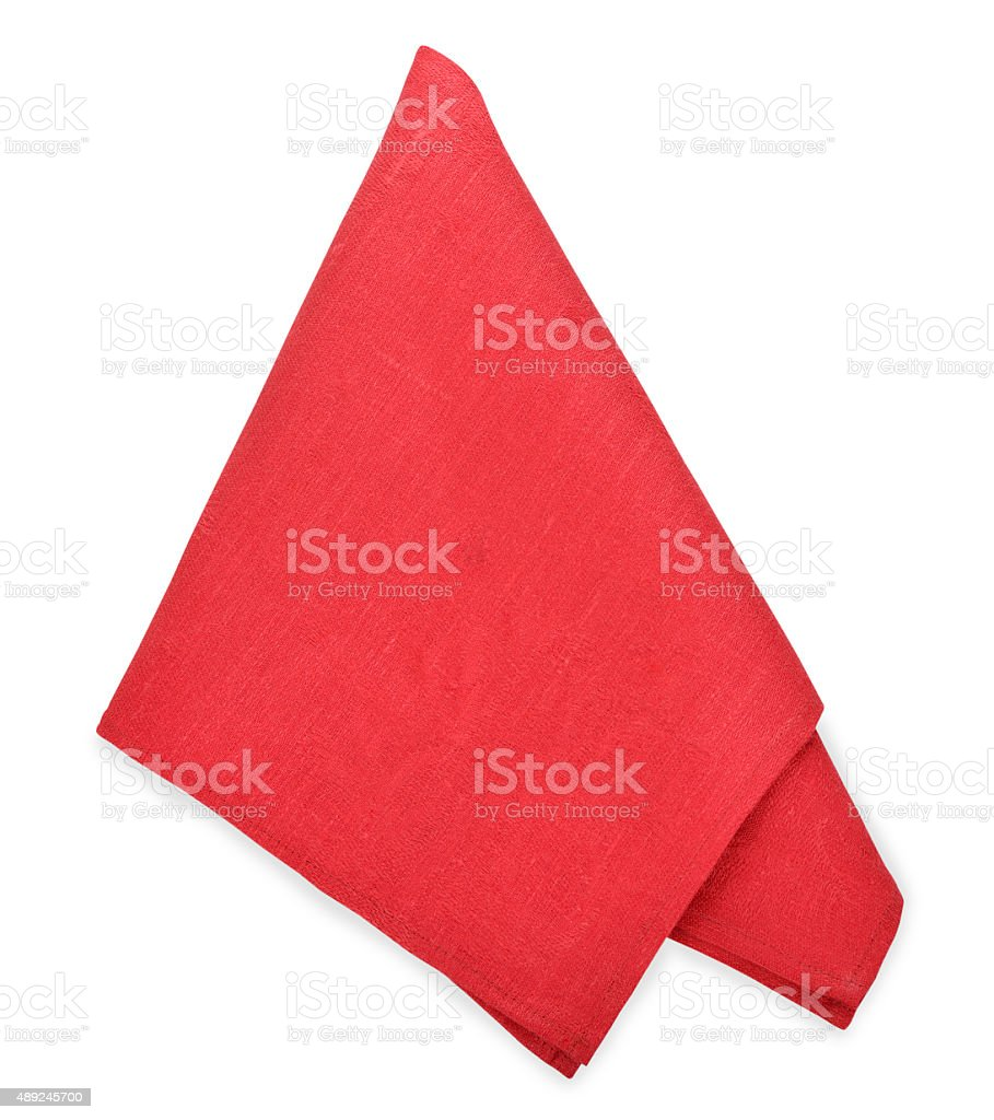 Red napkin stock photo