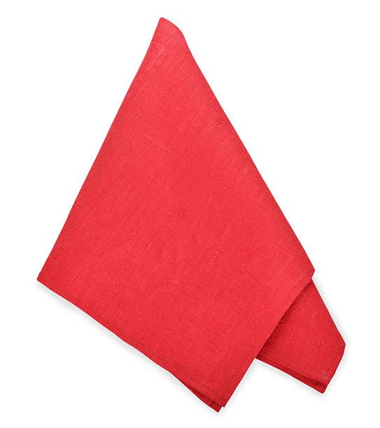 Red napkin stock photo