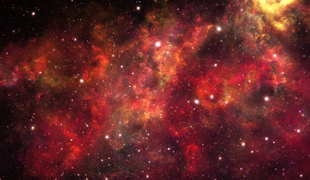 Red nebula stock photo