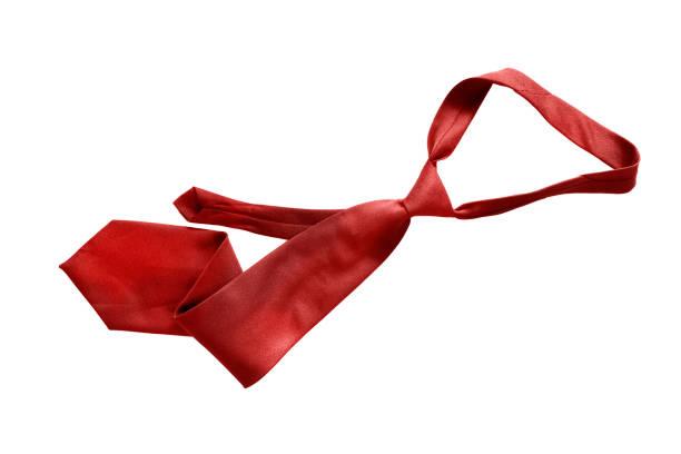 cravate rouge isolé - cravate photos et images de collection