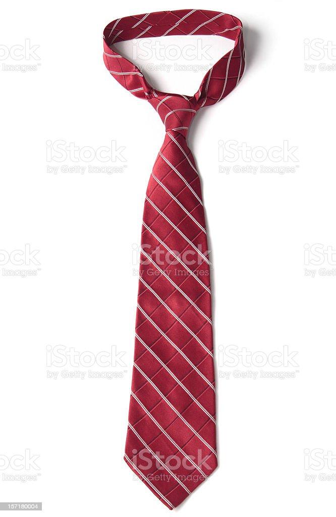 Red Necktie on White stock photo