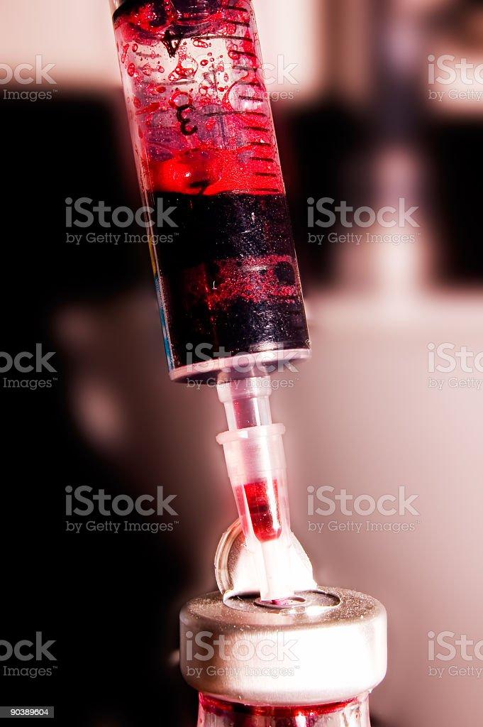 Red Needle stock photo