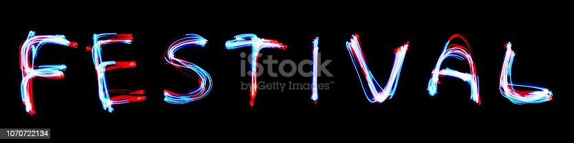 1140718043 istock photo Red neon sign of festive greetings. 1070722134