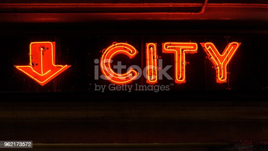 istock Red neon sign 962173572