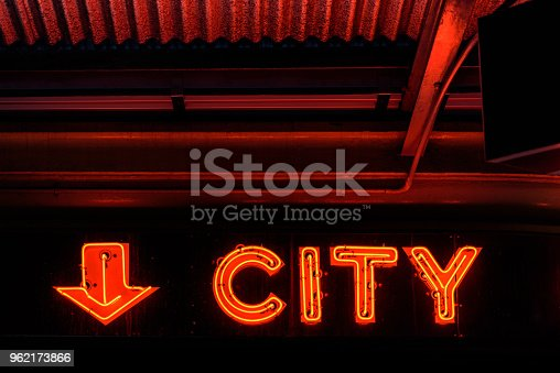 istock Red neon sign 962173866