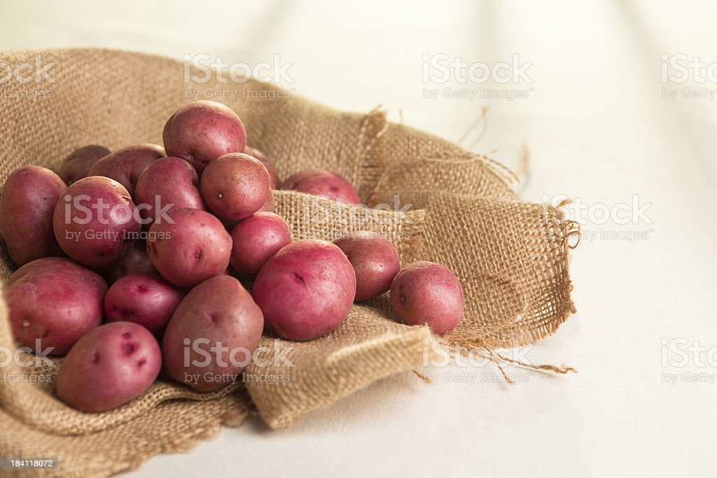 Red New Potatoes royalty-free stock photo