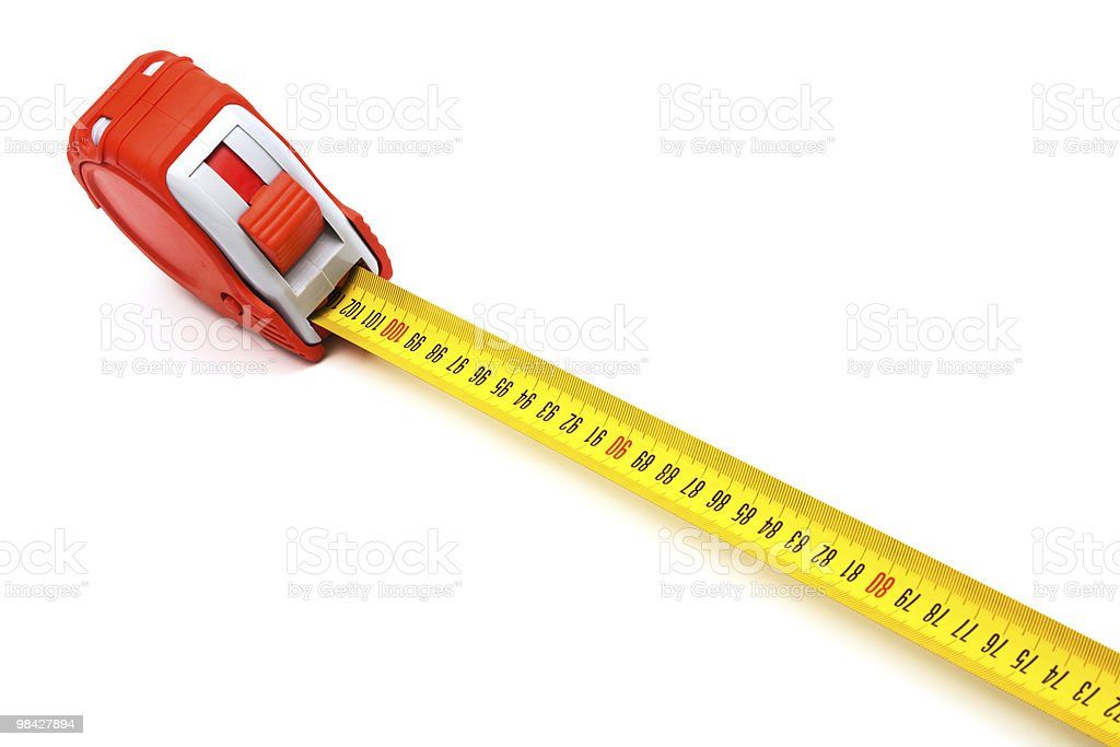 Red new tape-measure royalty-free stock photo