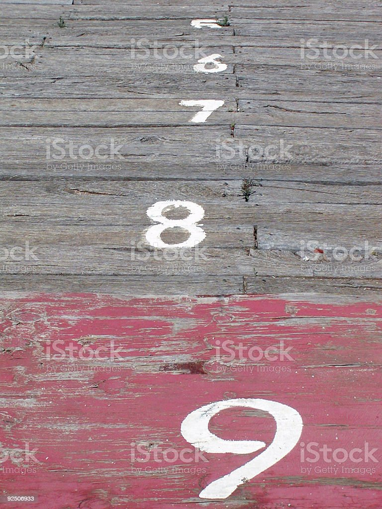 Red nine royalty-free stock photo