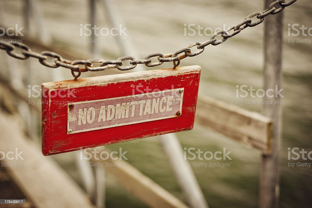 Red No Admittance Sign royalty-free stock photo