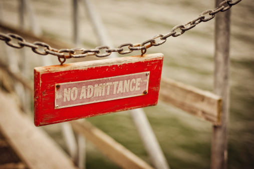 Red No Admittance Sign Stock Photo - Download Image Now