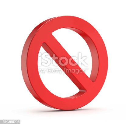 istock red no sign (forbidden) 510355225