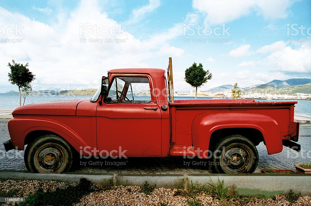 Red NostalgicTruck royalty-free stock photo