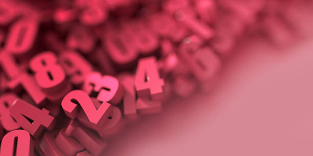 Red numbers background stock photo