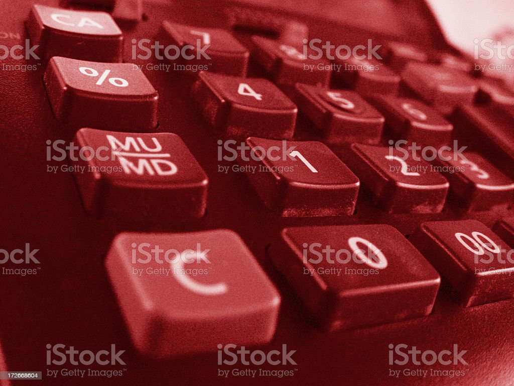 red numbers royalty-free stock photo