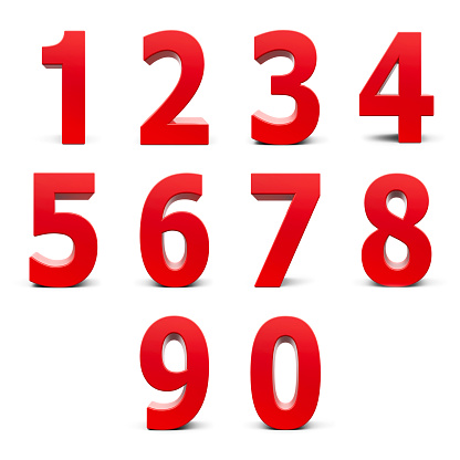 istock Red numbers set 478320942