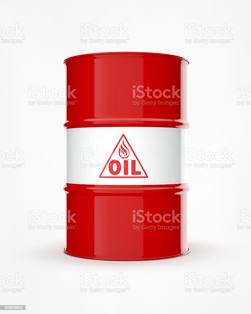 Red Oil Drum stock photo