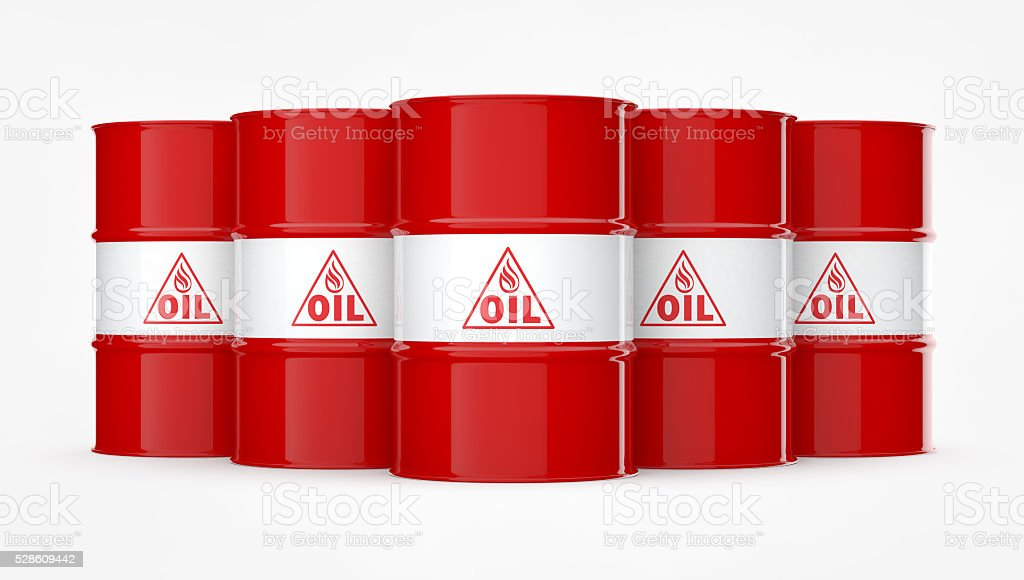 Red Oil Drums stock photo