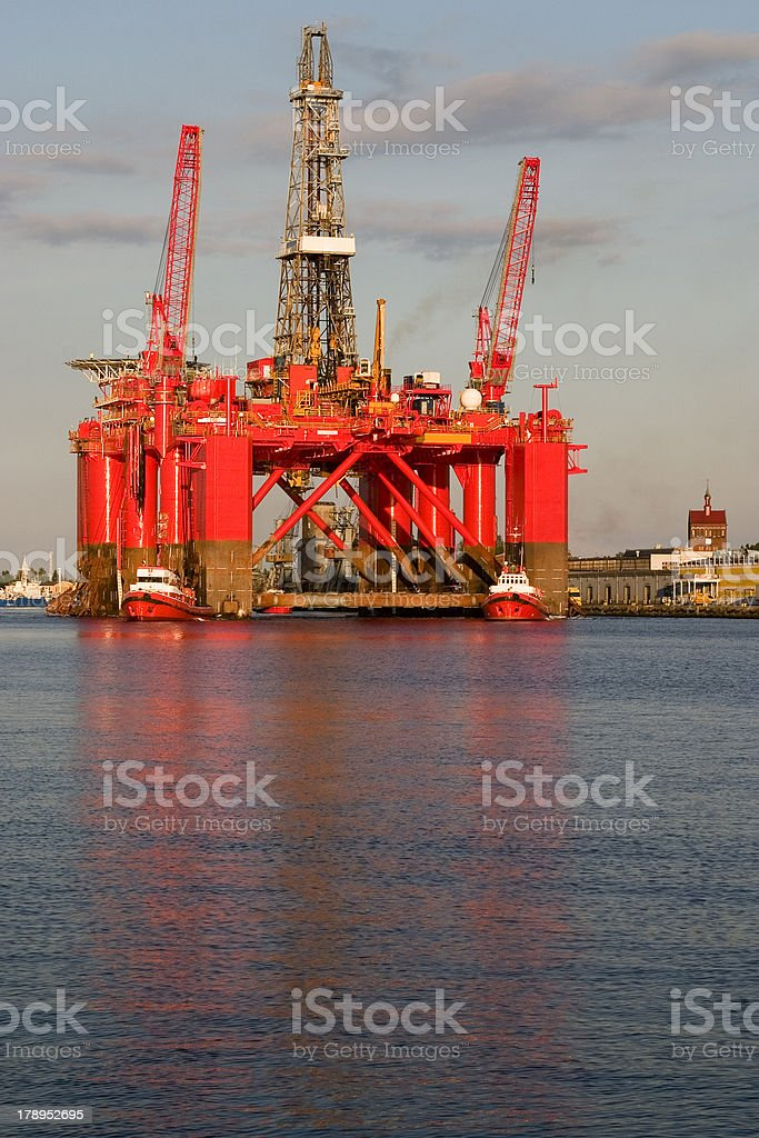 Red Oil Platform royalty-free stock photo