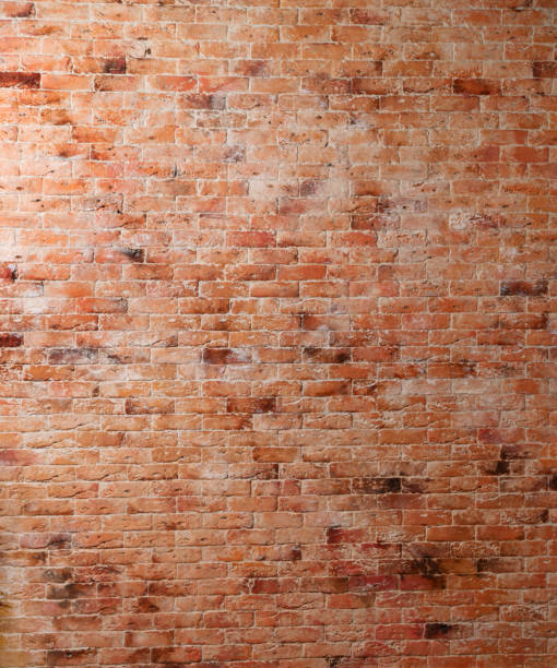 Red old brick wall stock photo