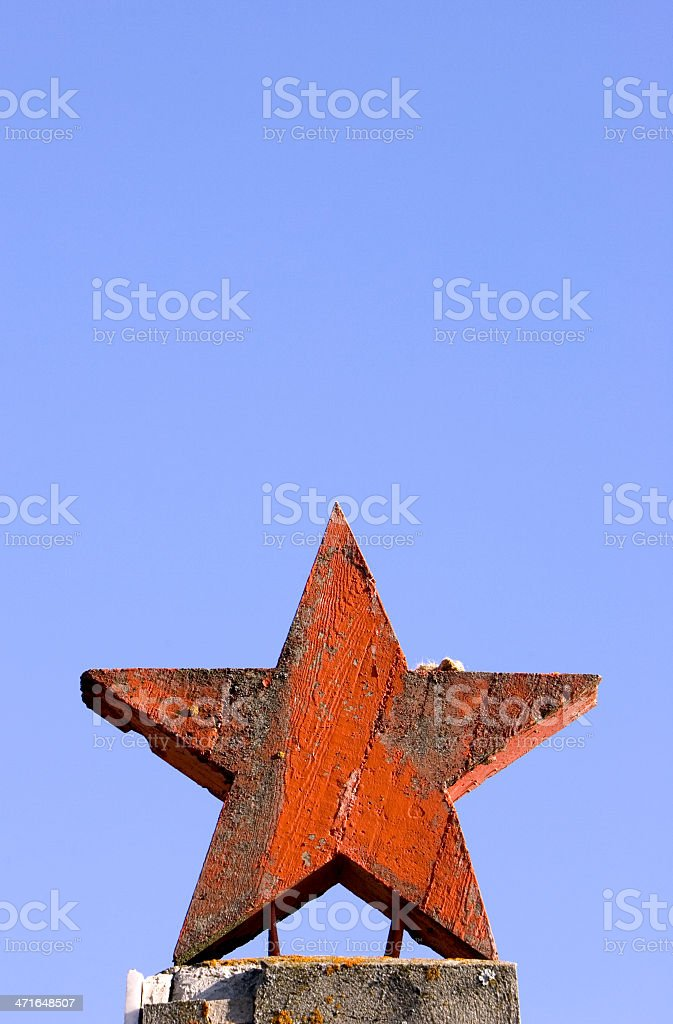 Red old star royalty-free stock photo