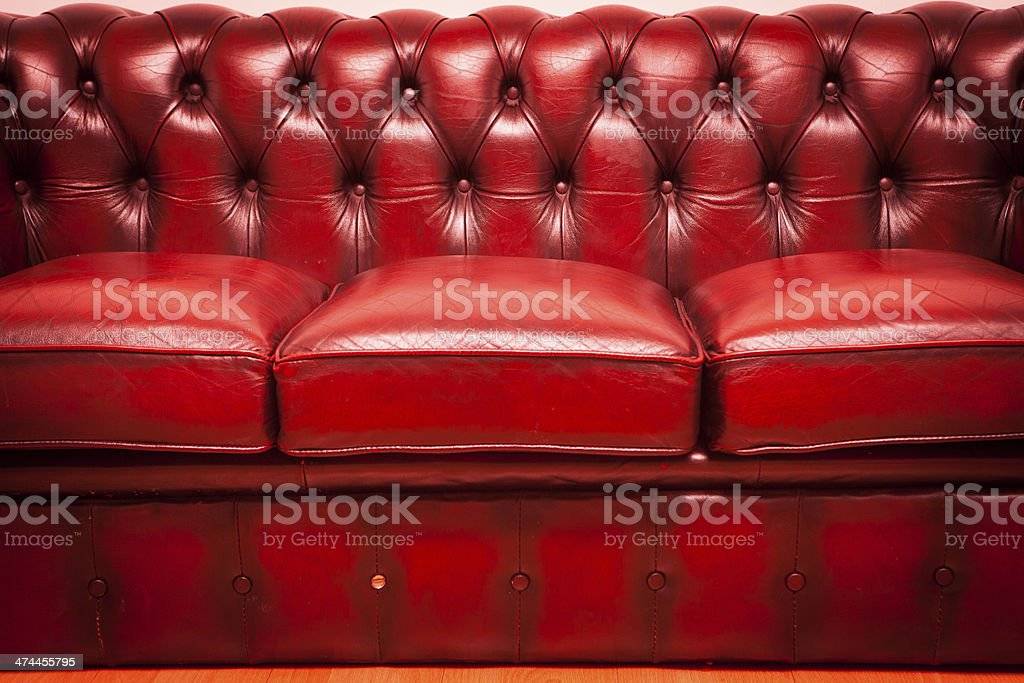 Red Old Vintage Genuine Leather Sofa Texture Background ...