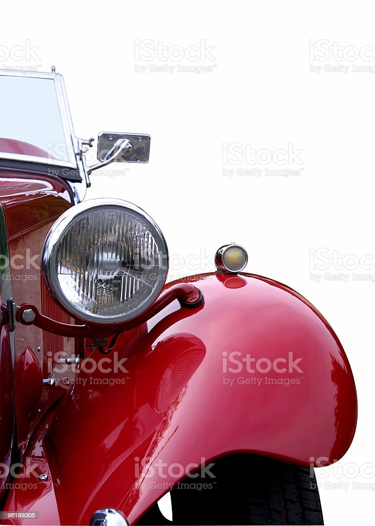 Red oldtimer detail (with clipping path) royalty-free stock photo
