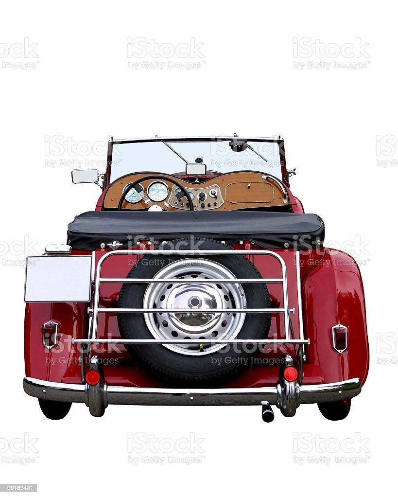 Red oldtimer (with clipping path) royalty-free stock photo