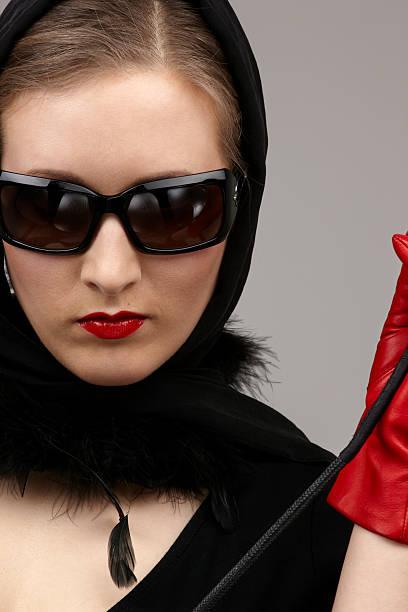 Whip Women Leather Sado Masochism Stock Photos, Pictures
