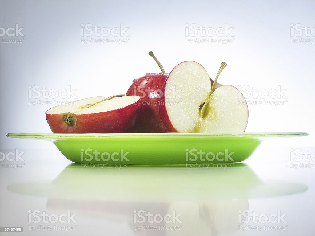 red on green royalty-free stock photo