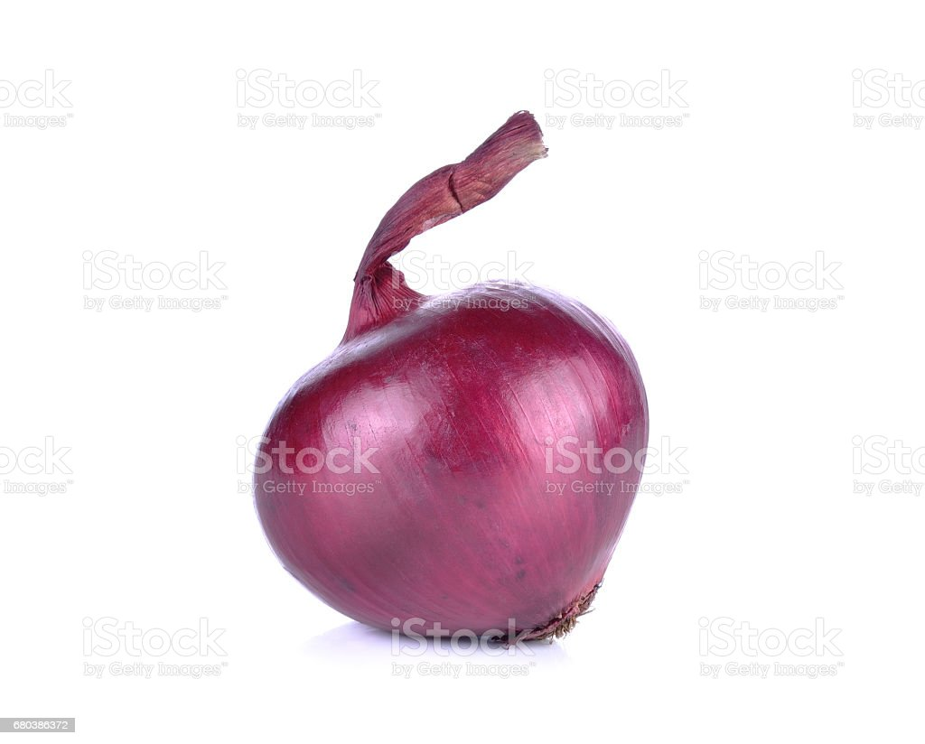 Red onion isolated on white background royalty-free stock photo