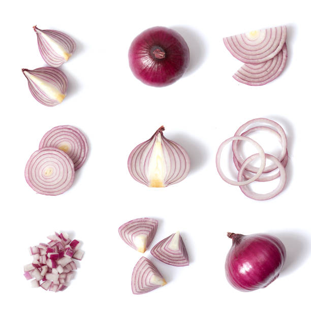 Red onion Red onion on a clear uniform background spanish onion stock pictures, royalty-free photos & images