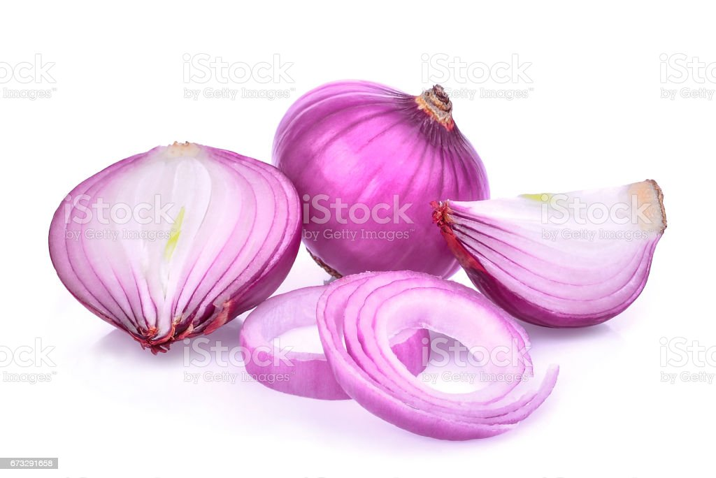 red onion slice isolated on white background royalty-free stock photo