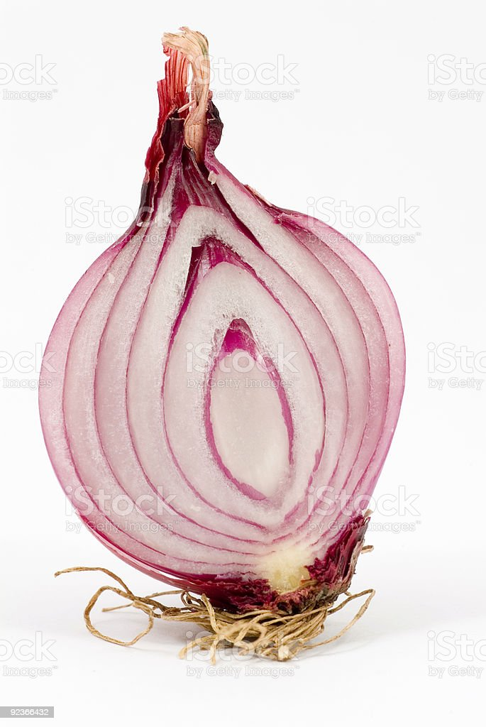 Red Onion Sliced royalty-free stock photo