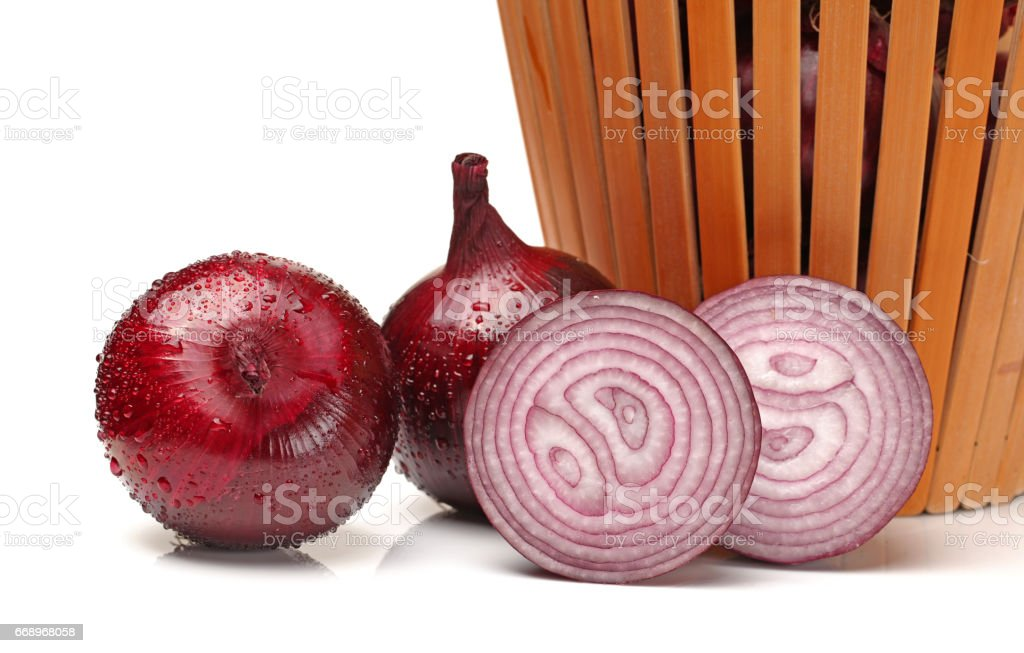 Red Onions on a white background foto stock royalty-free