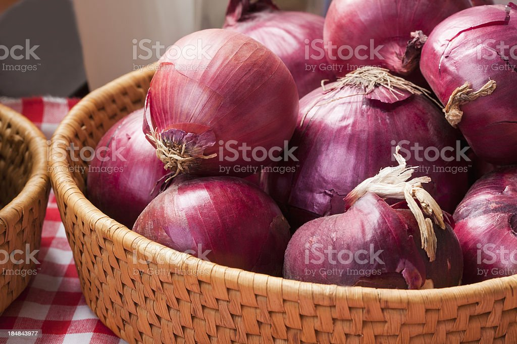 Red onions stock photo