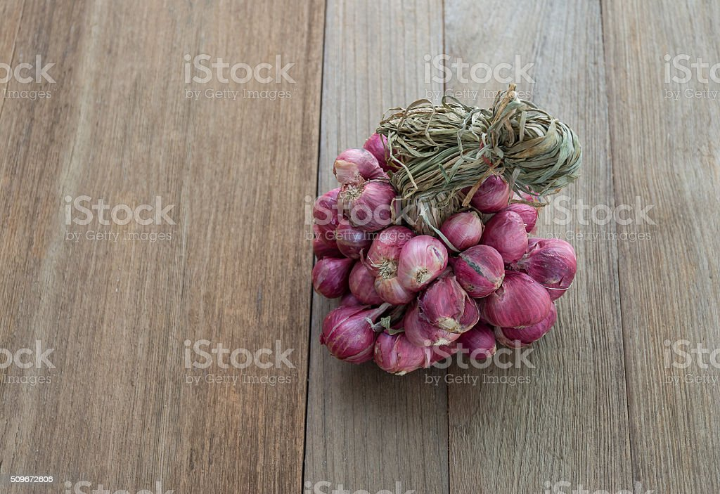 Red onions,allium ascalonicum still life stock photo
