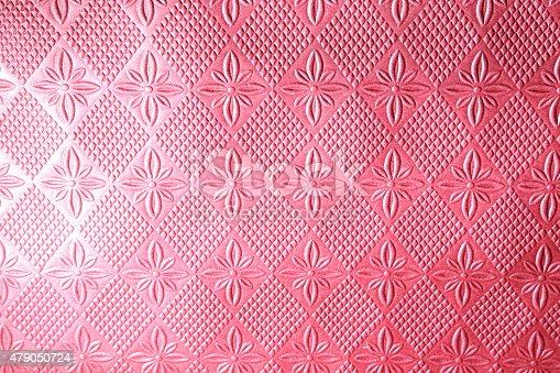 istock Red or maroon floral embossed background 479050724