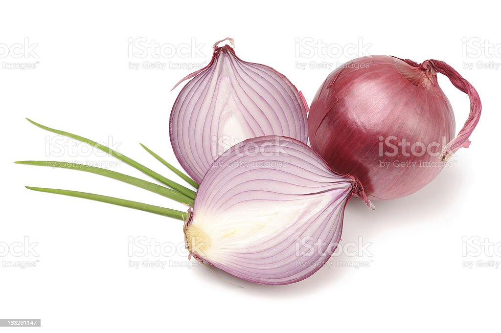 Red or Purple Organic Onions Isolated royalty-free stock photo
