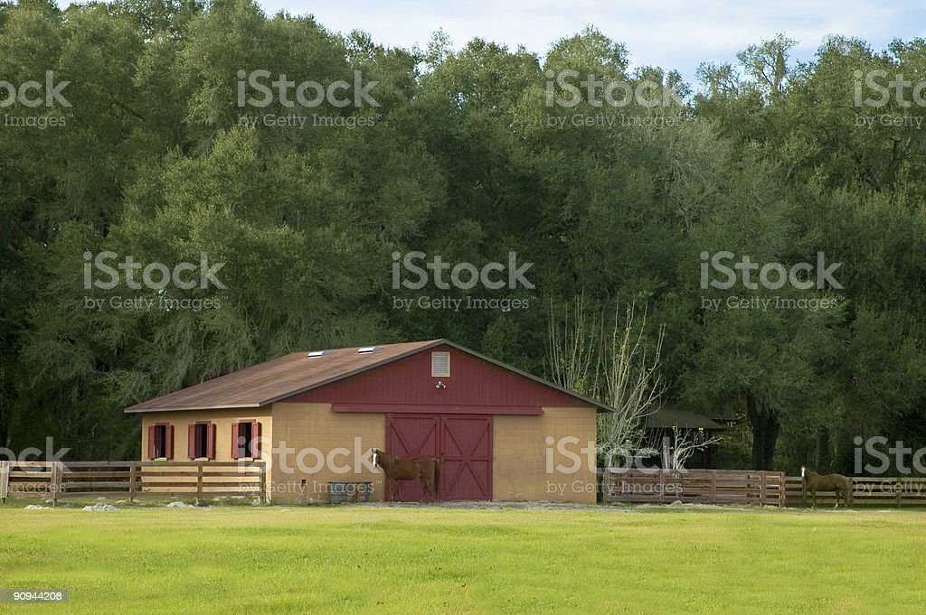 Red & Orange Barn stock photo