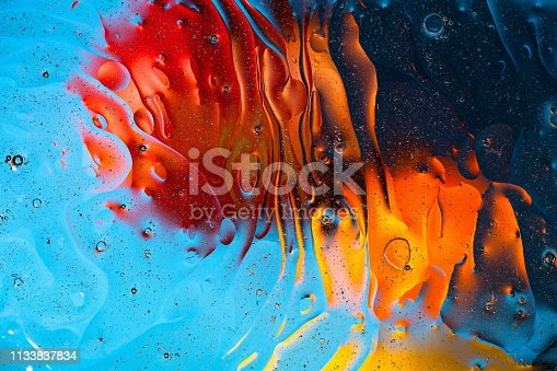 istock Red, orange, blue, yellow colorful abstract design, texture. Beautiful backgrounds. 1133837834