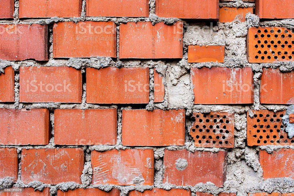 red - orange brick wall for texture or background 1 foto de stock libre de derechos