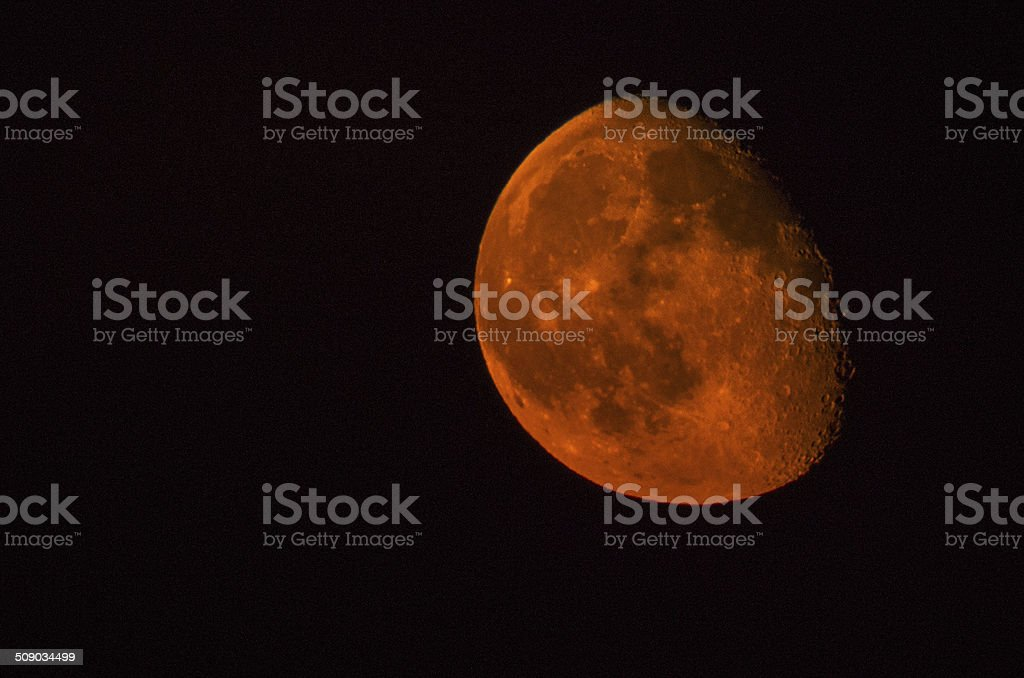 Red and Orange moon