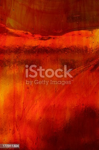 red orange stained glass
