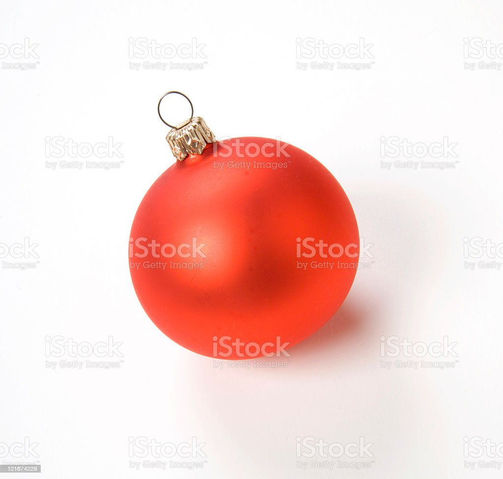 red ornament royalty-free stock photo