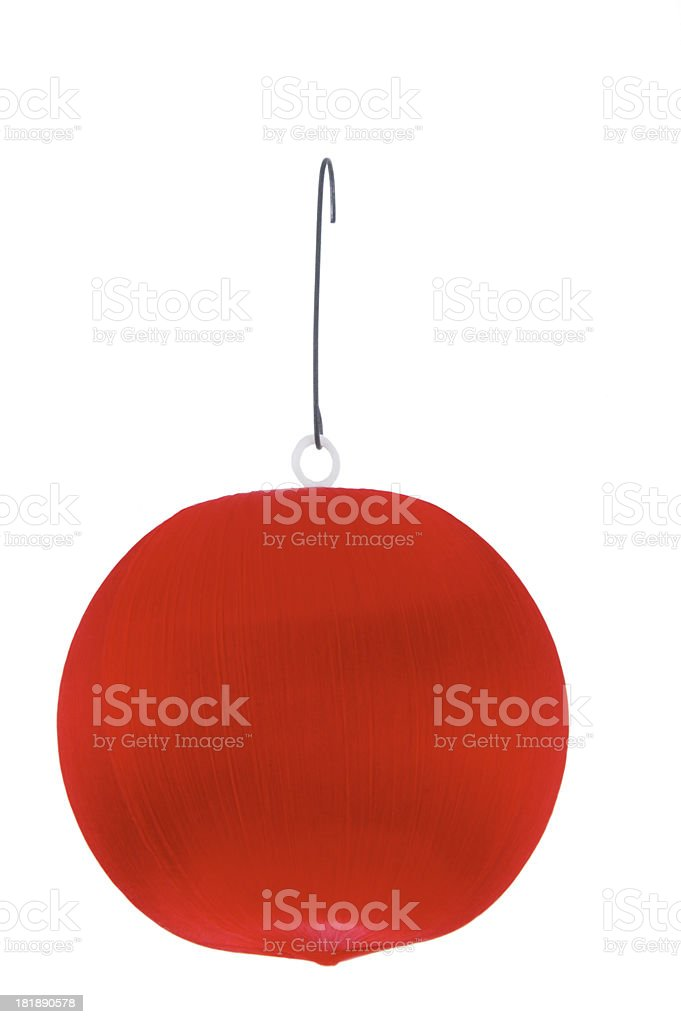 red ornament stock photo